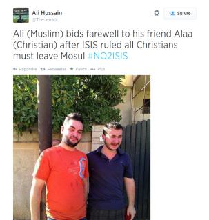Ali et Alaa, musulman et chrétien à Mossoul