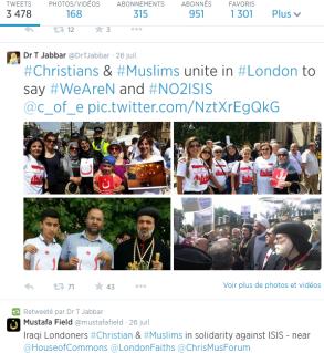 Chrétiens et musulmans irakiens rassemblés à Londres